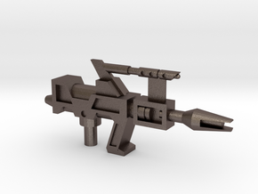 Transformers G1 Topspin Gun in Polished Bronzed Silver Steel