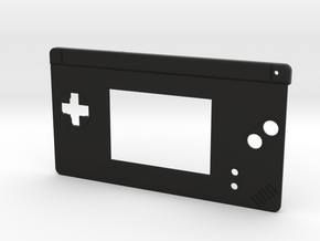 Gameboy Macro Faceplate (for DS Lite) - 2 Buttons in Black Strong & Flexible