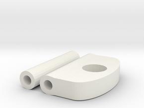Pebble Classic Keychain in White Natural Versatile Plastic
