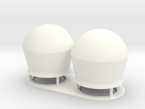 1:72 SatCom Dome Set 2 in White Processed Versatile Plastic