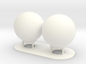 1:72 SatCom Dome Set 8 in White Processed Versatile Plastic