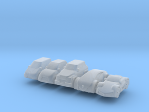 Miniature cars 15mm, 5 models (5pcs) in Smooth Fine Detail Plastic