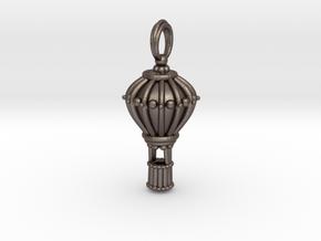 Balloon Keepsake Charm Large in Polished Bronzed Silver Steel