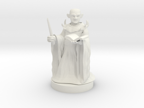 Gnome Warlock in White Natural Versatile Plastic