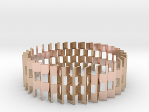 Goeritz Bangle in 14k Rose Gold Plated Brass: Small