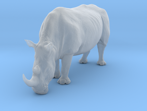 White Rhinoceros 1:22 Grazing Female in Smooth Fine Detail Plastic