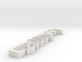 Big Tugger Cable Strain Relief in White Natural Versatile Plastic