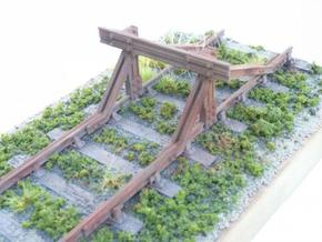 GER Railbuilt Buffer Stop in White Natural Versatile Plastic