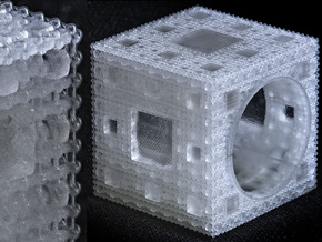 Inverted Menger Sponge Ring - EXTREMELY DETAILED! in Smooth Fine Detail Plastic
