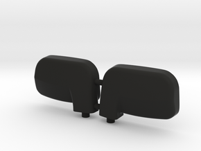 1:6 scale wing mirror for RC cars in Black Natural Versatile Plastic