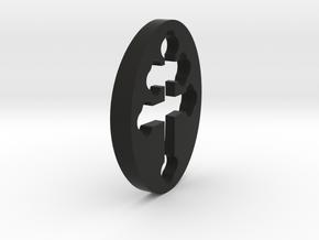 TEAM RING FILL SIZE 8 in Black Natural Versatile Plastic