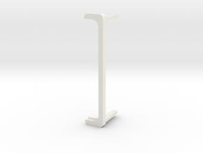 iPhone 7 Landscape Stand for Desk & Car in White Natural Versatile Plastic