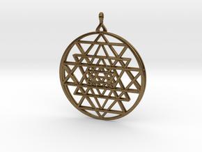 2.5D Sri-Yantra  6.3cm (All Metals) in Natural Bronze
