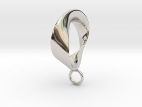Torbius pendant in Rhodium Plated Brass