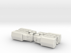 s. Wehrmachtsschlepper w. Plank Bed 1/1160 N-Scale in White Natural Versatile Plastic