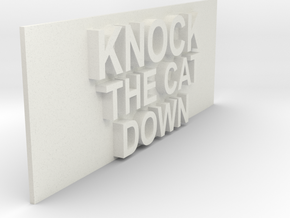 knock the cat down sign in White Natural Versatile Plastic