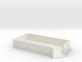 Small Parts Funnel Tray in White Natural Versatile Plastic
