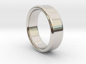 Ring_19mm_x_2mm_x_7mm in Rhodium Plated Brass