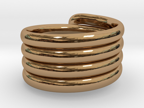 Coiled Ring  Size 10 in Polished Brass