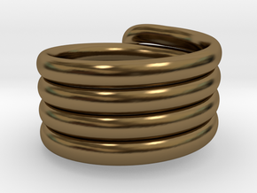 Coiled Ring  Size 10 in Polished Bronze