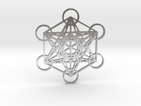 Metatrons Cube in Natural Silver
