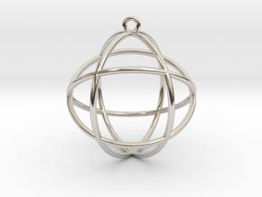Genesa Crystal version 2 in Rhodium Plated Brass