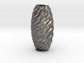Vase 23 in Polished Nickel Steel
