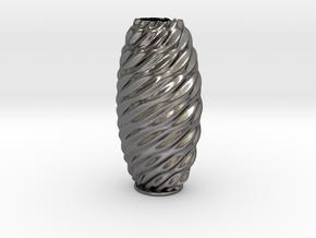 Vase 23 in Polished Nickel Steel