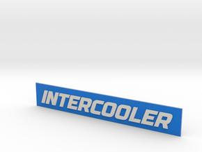 INTERCOOLER Badge in Full Color Sandstone
