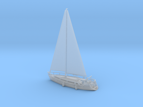 SailBoat_Ver02_Scale_N_Rev01 in Smooth Fine Detail Plastic