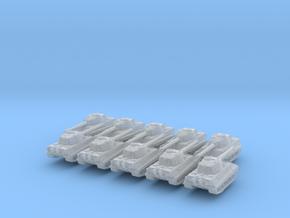 1/700 German E75 Heavy Tank x10 in Smoothest Fine Detail Plastic