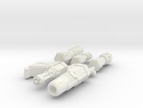 6mm Weapon Sprue B in White Natural Versatile Plastic