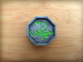 Snake Talisman in Full Color Sandstone