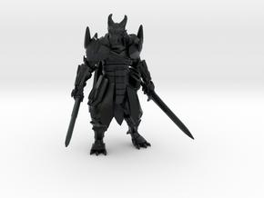 Dragonborn w/ Longswords in Black Hi-Def Acrylate