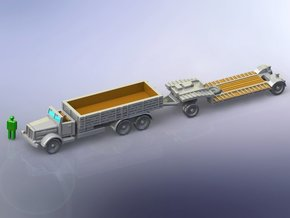 Faun L900 Hvy. Truck w. sd.Ah. 115 Trailer 1/144 in Frosted Ultra Detail