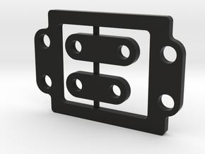 Team Associated RC10B6 Gearbox 2mm Spacer Plate in Black Natural Versatile Plastic
