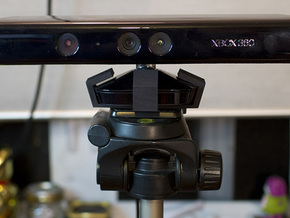 Kinect Tripod Mount in Black Natural Versatile Plastic