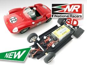 3D Chassis - Monogram Ferrari 275 - Inline in Black Natural Versatile Plastic