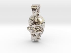 skull meca in Rhodium Plated Brass