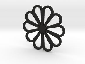 Flower  in Black Natural Versatile Plastic