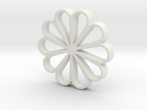 Beautiful flower in White Natural Versatile Plastic