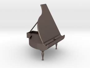 Piano Holder for Handy in Polished Bronzed Silver Steel