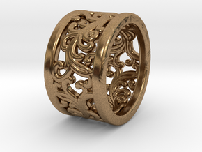 Plants Ornament Ring size 6 in Natural Brass
