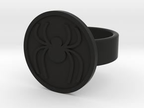 Spider Ring in Black Natural Versatile Plastic: 8 / 56.75