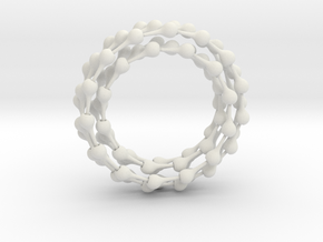 Ball jointed chain 2.1 meters in White Natural Versatile Plastic