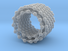 Ball jointed chain 7.7 meters, open in Smooth Fine Detail Plastic