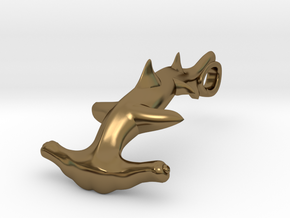 Hammerhead Shark bracelet hook in Polished Bronze