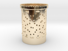 Pong bubbles Bloom zoetrope in 14k Gold Plated Brass