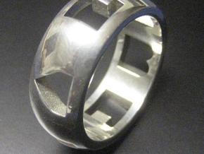 "I ""Heart"" U ring in Stainless Steel"