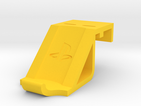 DualShock4 controller mount for PlayStation 4 slim in Yellow Processed Versatile Plastic